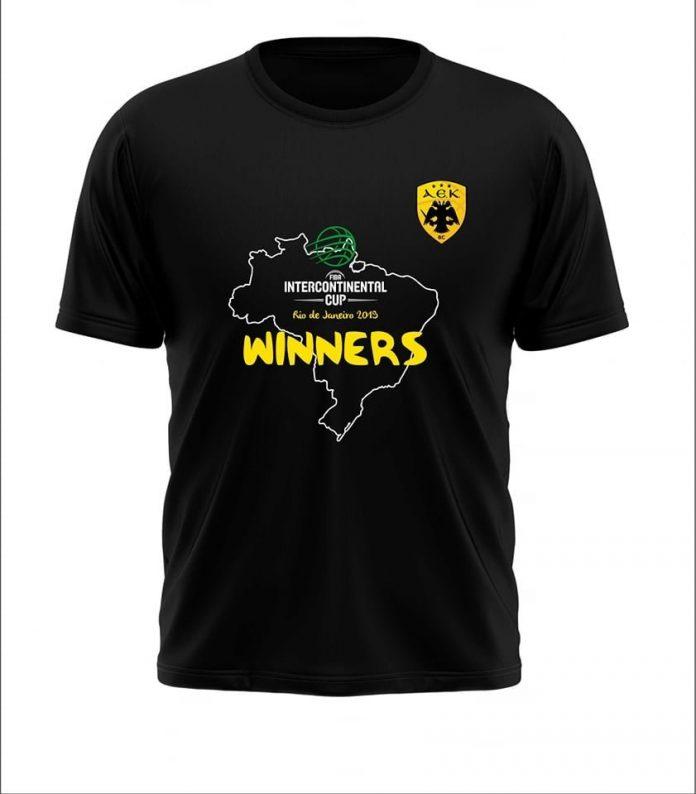Η ΚΑΕ ΑΕΚ κυκλοφόρησε το συλλεκτικό της μπλουζάκι για την κατάκτηση του  Διηπειρωτικού Κυπέλλου a566cf24062